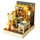 TIANYU DIY Doll Evi TW37 Mürekkep Renk Koleksiyonu Qingdai Yaratıcı Antik Sahne El Yapımı Küçük Ev