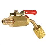 Válvula de fechamento de latão vermelho para mangueiras de carregamento de A / C HVAC 1/4