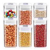 0.5/0.8/1.2/1.9L Airtight Stackable Dry Food Storage Container With Special Lids