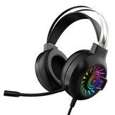 Fone de ouvido para jogos Bakeey M10 Drivers de 50 mm 7.1 Surround Sound Redução de ruído RGB Luminous Head-Mounted USB / 3,5 mm para jogos com microfone