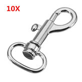 10Pcs 44mm Silver Zinc Alloy Swivel Bolt Snap Hook Trigger Clip Clasp with 16mm Oval Ring