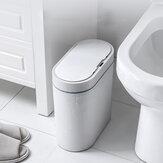 Smart المستشعر حاوية قمامة إلكترونية أوتوماتيكية منزلية للحمام مرحاض IPX5 ضد للماء سلة قمامة