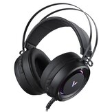 Rapoo VH500C Gaming Headset Computer Headphone Virtual 7.1 Channel RGB Gaming Headphone with Mic for PS4 Computer Gamer FPS Xbox