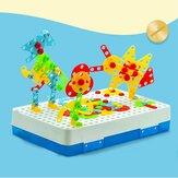 237 Adet Yaratıcı Mozaikler 3D DIY Elektrikli Birleştirin Matkap Bulmaca Yapı Taşları Peg Eğitici Oyuncak Çocuklar için Hediye
