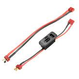 Осевой T Plug Вкл. Выключатель Коннектор с удлинителем Провод Кабель для RC Lipo Батарея