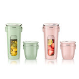 ZHENMI Mini Wireless Vacuum Portable Juicer Cup Blender from USB Charging Vacuum Preservation