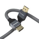 BlitzWolf® BW-HDC5 8K 48Gbps HDMI a HDMI Cable 1m / 2m / 3m con HDMI 2.1 8K @ 60Hz 4K @ 120Hz 10K @ 60HZ 48Gbps Transferencia 30AWG Alambre Núcleo