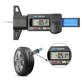 Audew 0-25,4mm LCD Medidor de profundidad de la banda de rodadura del neumático del vehículo digital Calibrador de medición Reparación de neumáticos herramientas