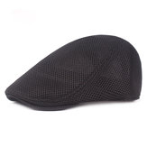 Unisex Summer  Mesh Beret Caps Forward Caps