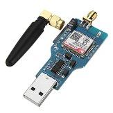 USB para GSM serial GPRS SIM800C módulo com Bluetooth controle de computador sim900a chamando com Antena