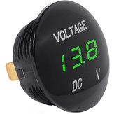 DC 12V-24V Universal Digital LED Display Voltmeter Voltage Meter untuk Mobil Motor Auto Truck