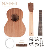 NAOMI DIY Ukulele26インチUkeleleHawaii Guitar DIY Kit Sapele Wood Body Rosewood Fingerboard W / Pegs String Bridge Nut Set