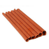 Orange Air Ducting Pipe Flexible Silicone Hose Hot And Cold Cooling Transfer Extractor