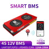 DALY BMS 4S 12V 150A 200A 250A 18650 Smart LiFePO4 BMS bluetooth 485 to USB Device CAN NTC UART Togther Lion LiFePO4 LTO Batteries