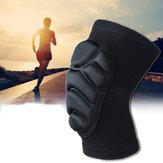 KALOAD 1 paio di ginocchiere addensare sport all'aria aperta basket supporto brace in esecuzione Idoneità equipaggiamento protettivo
