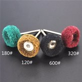 Polishers Buffers Abrasive 3mm Shank Scouring Pad Grinding Head Fits For Dremel