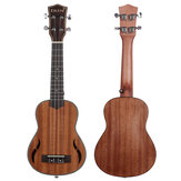 IRIN 4 String 21 Inch Walnut Wood Soprano Ukulele Acoustic Guitar Mahogany Fingerboard Neck Hawaii Guitarra