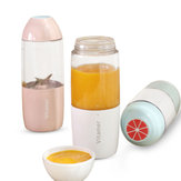 380MLUSB充電式ジューサーボトルカップ野菜フルーツミルクシェイクスムージースクイーザリーマーボトル