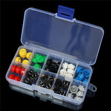5 x 50pcs Tactile Push Button Switch Momentary Tact & Cap Assorted Kit 12x12x7.3mm Key Caps