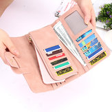 New Fashion Buckle Women's Long Wallet Candy Color Women's Clutch Phone Wallet Bag