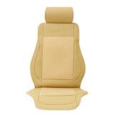 12-24V 4 Embutido de seda de gelo Capa de almofada de assento de carro Almofadas de refrigeração do ventilador ventilado a ar