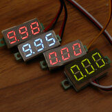 Geekcreit® 0.28 Pollici Two-wire 2.5-30V Three-wire 0-100 / 500V Digital Display Voltmetro DC Voltmetro Regolabile
