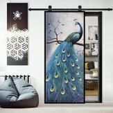 ملصقات باب غرفة المعيشة البلاستيكية خلفية ملصق الطاووس ضد للماء ديكور المنزل