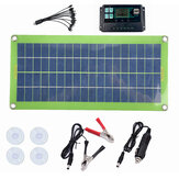 DC 200W 18V Solar Panel Kit Double USB Port Controller Power Bank Portable Battery Charger for Outdoor Camping Travel
