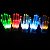 LED Flashing Constantly Glow Light Up Finger Glove Lighting Xmas Dance Party Cosplay