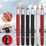 Moonman F9 Fountain Pen 0.5mm F Nib Writing Ink Pen Silver Writing Signing Pen Gifts for Family Friends Colleagues