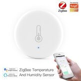 MoesHouse Tuya ZB Smart Temperatura e Umidade Sensor Bateria Powered Security com Tuya Smart Life App Alexa Google Home