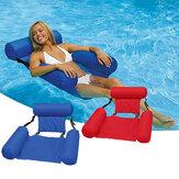 Espreguiçadeira de água de Natação de Verão Inflável Dobrável Fileira Flutuante Encosto Air Mat Party Piscina Brinquedo