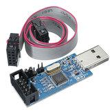 3 قطع 3.3 فولت / 5V USBASP أوسبسب أفر مبرمج تنزيل أوسب إيسب أسب ATMEGA8 ATMEGA128 دعم win7 64 كيلو الإفراط الحالي حماية وظيفة مع تحميل كابل