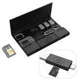 Multifunctionele Type-c Micro USB OTG USB 2.0 TF-kaartlezer met SIM-kaartadapter Kaartverzameling Opbergdoos