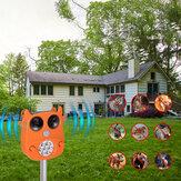 JLT-866 Solar Ultrasonic Animal Repeller 7 LED Blinklicht Tiere erschrecken Garten PIR Sensor Vogelkatzen Hundeabwehrmittel