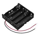 5pcs New Version DC 14.8V 4 Slot 4 Series 18650 Battery Holder Box Case With 2 Leads And Spring