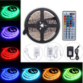 5M 24W RGB SMD5050 Waterproof 300 LED Strip Light + 44 Key Remote 12V 2A Power Adapter Full Kit Christmas Decorations Clearance Christmas Lights
