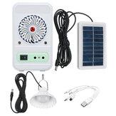 4-en-1 750LM Camping lumière panneau d'alimentation solaire ventilateur de refroidissement EDC batterie externe lampe d'urgence voyage en plein air