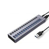 ACASIS 10 Port 48W USB 3.0 Veri Hub 12V / 4A Güç Adaptörü USB Hub 3.0 Splitter for Laptop, PC, Computer, Mobile HDD, Flash Drive