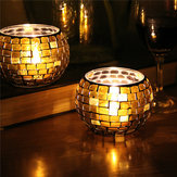Handicraft Mosaic Glass Colors Strip Candle Stick Candle Holder Candelabra Home Decor Gift