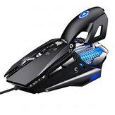 YINDIAO Kablolu Mekanik Mouse 7200DPI RGB Arka Işık Bilgisayar Mouse Oyun Mouse Bilgisayar Laptop PC Gamer için