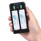 ASTROLUX® SC02 Type-C QC 3.0 Charge rapide USB Batterie Chargeur Dual-slots Pour Li-ion / IMR / INR / ICR Ni-MH Ni-Cd 21700 18650 26650 Lampe de poche Batterie