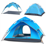 3-4 Person Camping Tent Instant Automatic Double Layer Waterproof Sunshade Canopy Outdoor Travel Beach