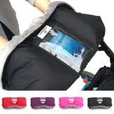 Baby Stroller Pushchair Glove With Touch Screen Phone Pocket Waterproof