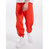 Mens Side Letter Webbing Drawstring Jogger Pants With Pocket