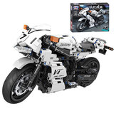 716 Pcs 1:6 7047 3D Competitive Motorcycle Model DIY Hand-assembled Mechanical Technology Blocks Educational Toy for Kids