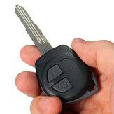 2 Button Remote Key Fob Case Shell + Rubber Pad voor Suzuki Swift Ignis Alto SX4