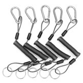 5Pcs 26cm Steel Plier Coil Tether Lanyard Secure Grip Retracting Tool