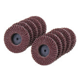 10Pcs 2 Inch 40-120 Grit Flap Disc Sanding Wheels R Roloc Threaded Twist Lock Kit Abrasive Tool