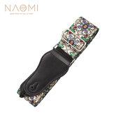 Naomi Nylon Gitaarband Verstelbare Gitaarriem Riem Bloempatroon Voor Akoestische Elektrische Bas Verstelbare Soft Singelband